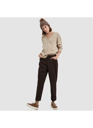 Yargıcı Cep Detaylı Pantolon Siyah